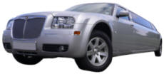 Wedding Limos - Silver Chrysler 300 stercted limousine (matching Chrysler 300 car also available)