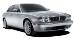 Chauffeur driven cars in Northampton area, including the long wheel based version of the new Jaguar XJ